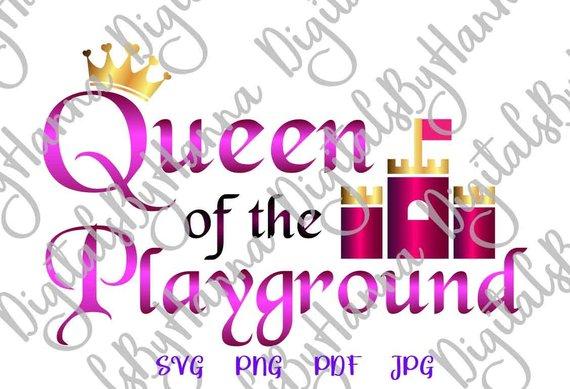 Queen Playground DIY Instant Download Die Cut Iron on Vinyl Card Making