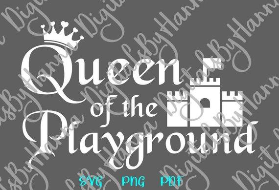Queen Playground Scrapbook Ideas Files for Laser Shirt