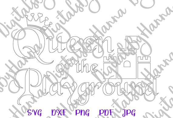 Queen Playground Silhouette DXF Digital Clipart Gift