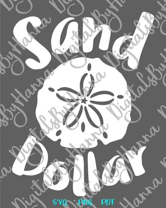 Sand Dollar Beach SVG Files for Cricut ClipArt Sea Summer
