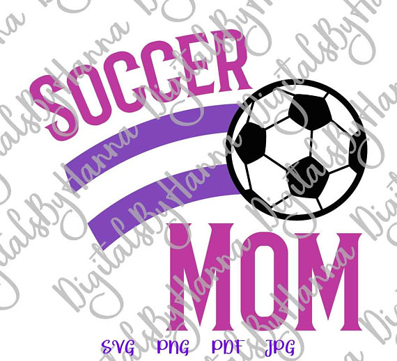 Soccer Mom Momlife Vector Clipart Word Sign