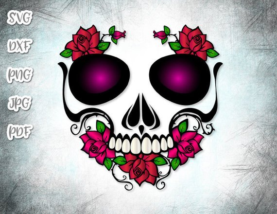 Sugar Skull SVG File for Cricut Vector Clipart