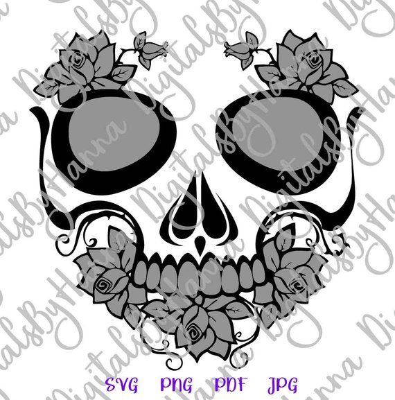 Sugar Skull Scrapbook Ideas Files for Laser Shirt