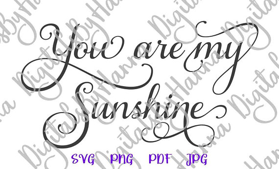 Sunshine Cuttable Shirt Decal Heat HTV Cutting