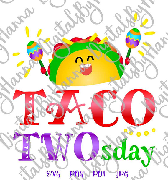 Taco TWOsday 2nd Birthday Visual Arts Stencil Maker Papercraft
