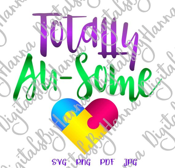 Totally Ausome Instant Download Die Cut Iron on Vinyl Card Making