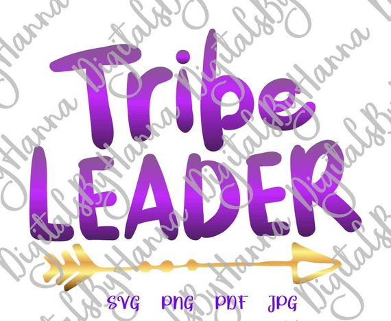 Tribe Leader Instant Download Die Cut Iron on Vinyl Card Making