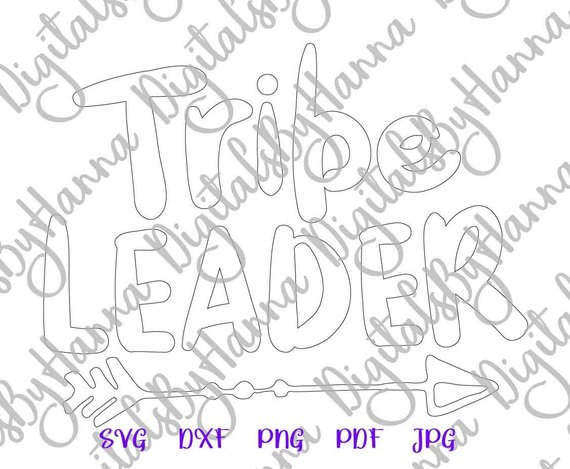 Tribe Leader Silhouette DXF Digital Clipart Gift