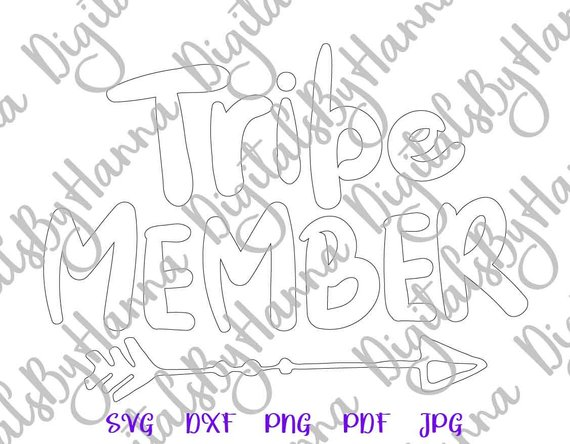 Tribe Member Silhouette DXF Digital Clipart Gift