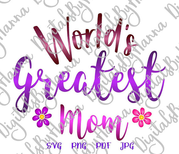 World's Greatest Mom Life Quote MomLife Vector Clipart