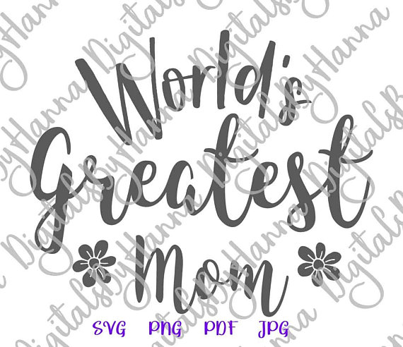 World's Greatest Momlife SVG Files for Cricut Decal Heat HTV Cutting
