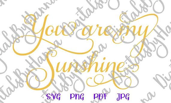 You Sunshine Vector Clipart SVG File for Cricut