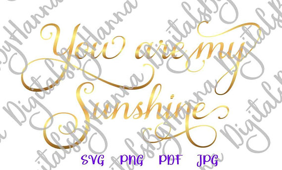 You are My Sunshine Visual Arts Stencil Maker Papercraft