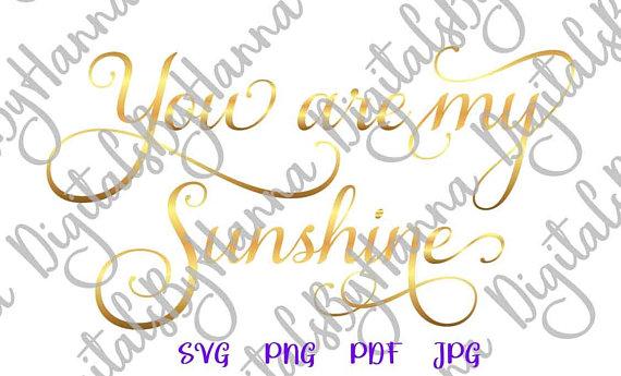 You are My Sunshine Visual Arts Stencil Maker Papercraft
