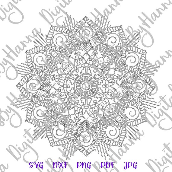 Zentangle SVG Files for Cricut Mandala Pochoir Clipat