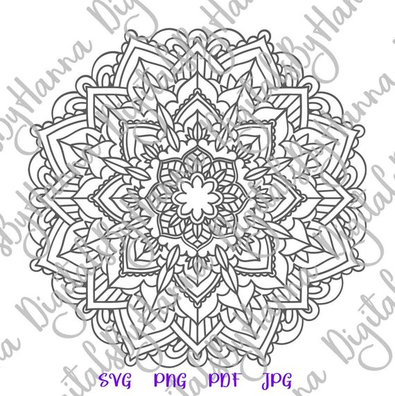 Zentangle SVG Files for Cricut Mandala Pochoir Stencil