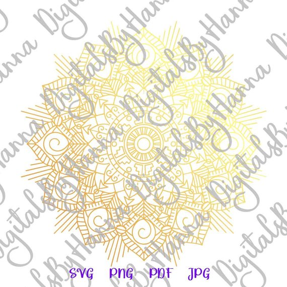 Zentangle SVG Mandala Cuttable Shirt Decal Heat Cutting