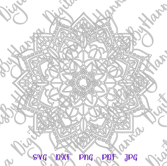 Zentangle SVG Silhouette DXF Digital Clipart Vector Gift