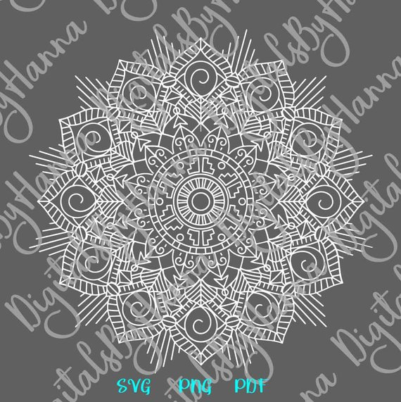 Zentangle SVG Vector Clipart Pochoir Mandala Stencil Cut