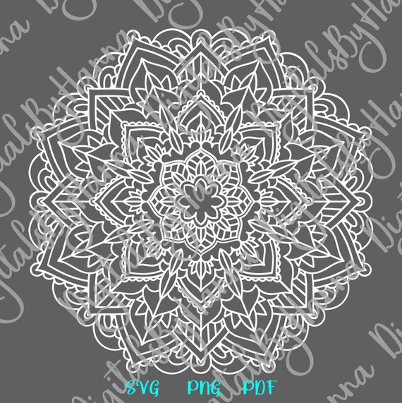 Zentangle SVG Vector Clipart Pochoir Mandala Stencil