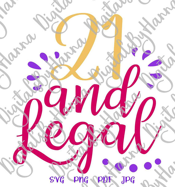 21st twenty one and legal shot glass year vector gift banner