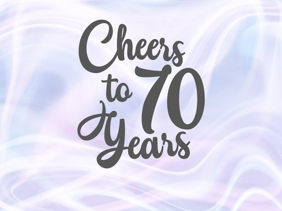 cheer to 70 year svg card gift decoration poster 70th birthday