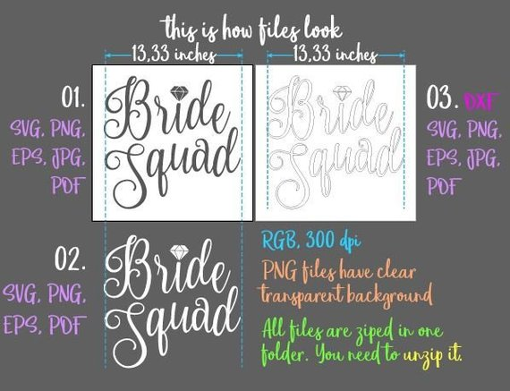 bachelorette svg saying bride squad svg wedding bridal tee robes silhouette cut