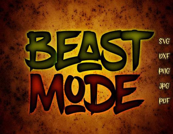 Beast Mode Shirt SVG Quote Workout Crossfit Saying Run ...