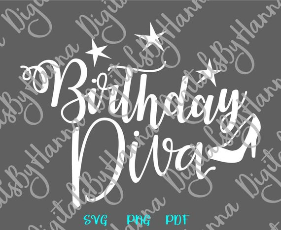 birthday diva svg qeen ladies ideas files for laser