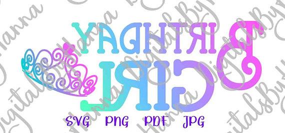 birthday girl baby 1st visual arts mirror reversed stencil maker