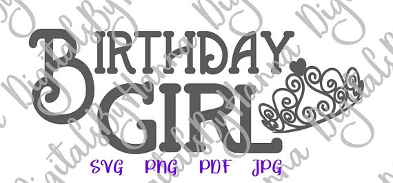 Birthday Girl Svg Files For Cricut Baby Onesie Tiara 1st