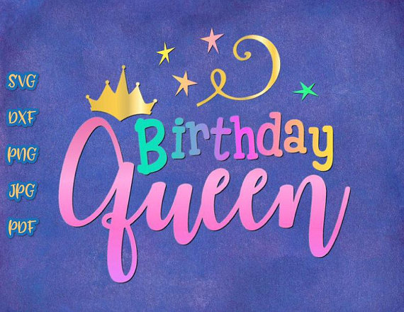 birthday queen crown adult ladys vector clipart svg file for cricut