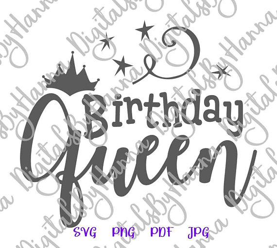 birthday queen svg crown vector clipart adult women