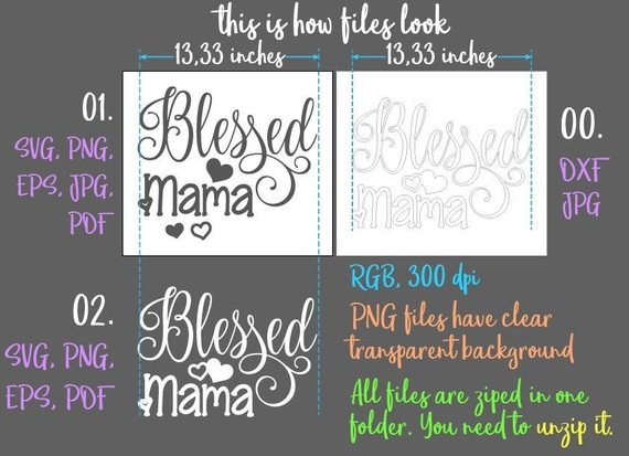 48+ One Blessed Mama Cut File DXF