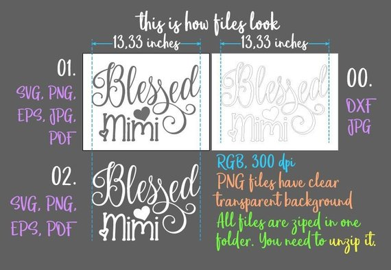 blessed mimi svg files for cricut grandma tee tshirt mug cup print silhouette cut