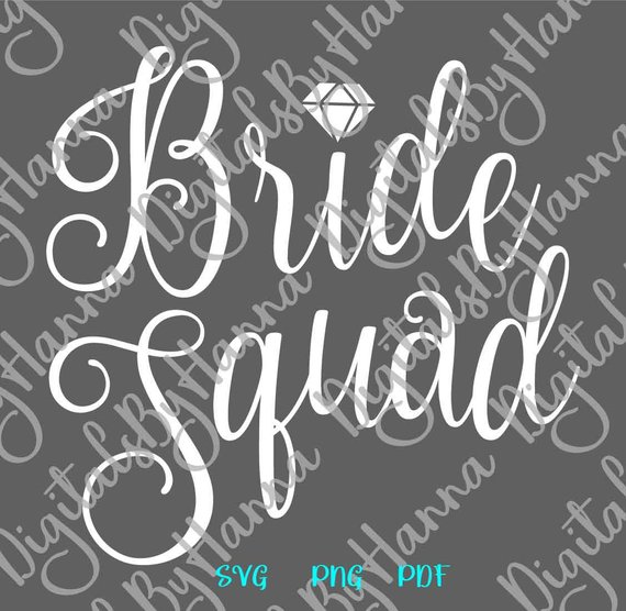 bride squad bachelorette word print wedding bridal tee robes silhouette cut lettering