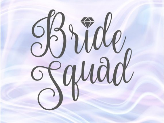 Bride Squad Bachelorette SVG Team Bride Tribe Wedding Bridal Robes Silhouette Cut