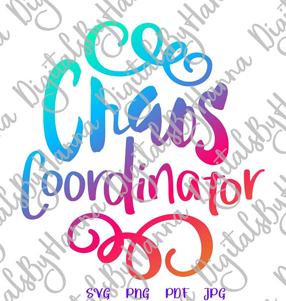 chaos coordinator mom life svg family silhouette cut