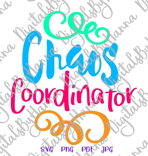 chaos coordinator mom life svg iron on transfers