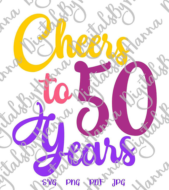 cheers to 50 year birthday wine glass iron on transfers
