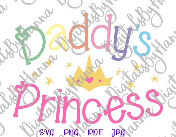 daddy s princess has arrived baby girl onesie svg files for cricut print word sign crown