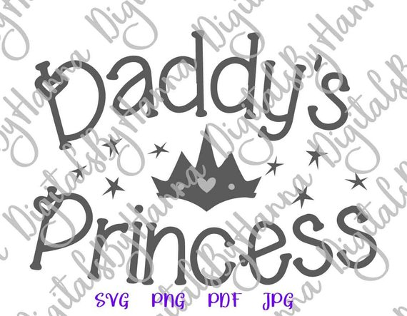 daddy s princess svg baby girl new baby crown silhouette cut