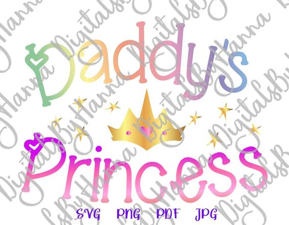 daddy s princess svg new baby take coming home silhouette cut