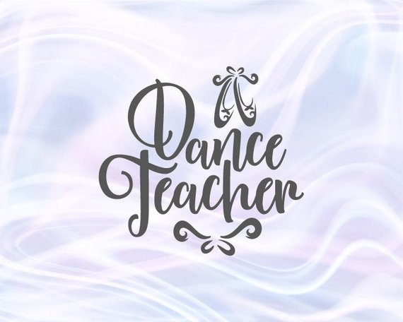 Dance Teacher SVG Files for Cricut Ballet Slippers Dancer Sign Pointe Shoe Flat