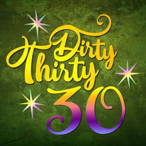 dirty thirty 30 th birthday invitation vector clipart svg file for cricut