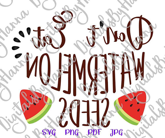 don't eat watermelon seeds visual arts mirror reversed stencil maker