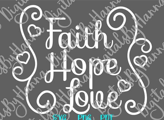 faith hope love svg clipart christian tshirt word sign print