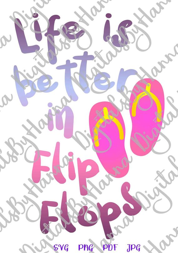 flip flops beach svg files for cricut quote summer clipart sign print word lake camping