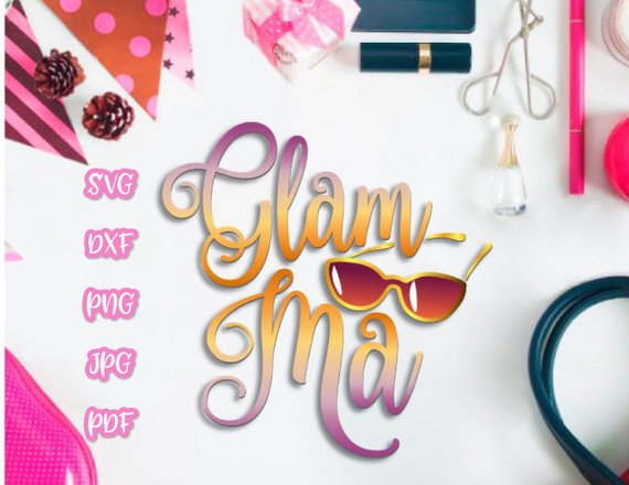 glamma vector clipart svg file for cricut word