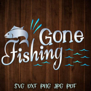 gone fishing vector clipart svg file for cricut